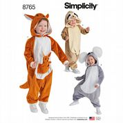 8765 Simplicity Pattern: Kids' Animal Costumes